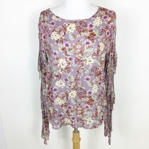 Mossimo Floral Long Sleeves with Ties sz. Medium